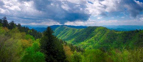 Smoky Mountains and Clouds, Tennessee.