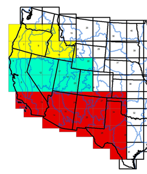 Map of SW and Great Basin areas