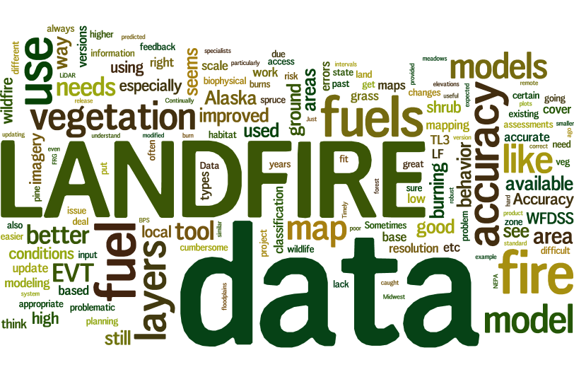 LANDFIRE Data Wordle