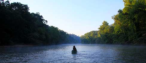 The Cahaba River, part of the larger Mobile River basin. © Hunter Nichols