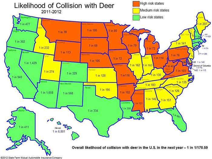 State Farm Deer Map